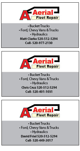 A Aerial Fleet Repair Business Cards Innovative Signs Of Tucson