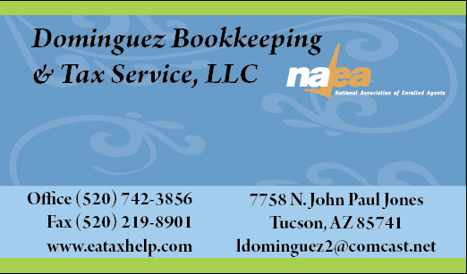 Dominguez bookkeeping business cards innovative signs of tucson about me reheart Choice Image