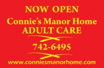 Connie's Manor Home Banner