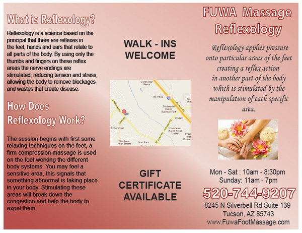 Fuwa Foot Massage Brochure - Innovative Signs Of Tucson