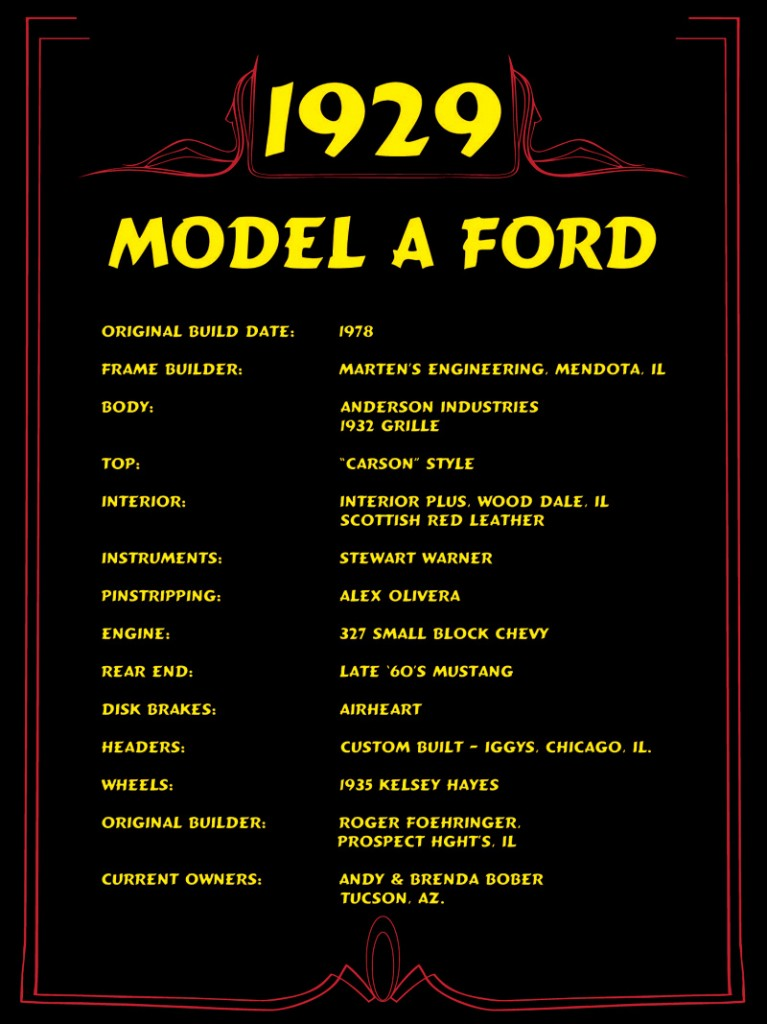 Placard For A 1929 Ford Spec Sheet Innovative Signs Of
