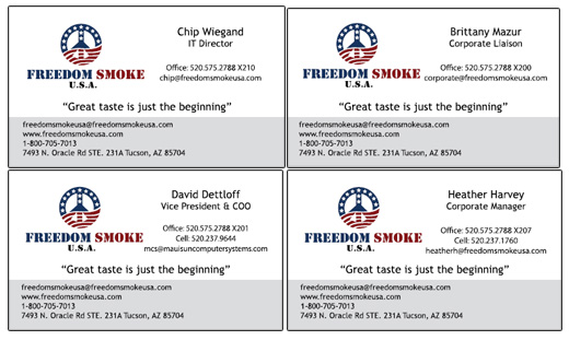 Business cards in usa gallery card design and card template new freedom smoke cards designed innovative signs of tucson thank you freedom smoke usa for reheart reheart Images