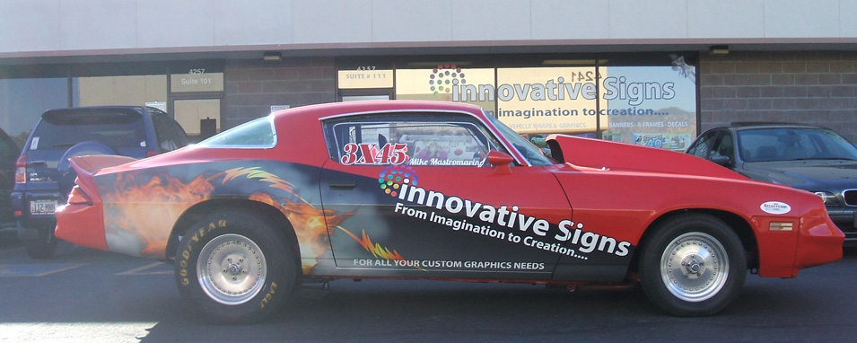 Race Car Wrap Completed Innovative Signs Of Tucson