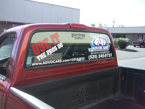 Tacoma Truck Advocare Graphics Install Innovative Signs Of - Advocare car decal stickers