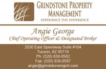 New business cards for Grindstone Property Management