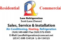 Laos Refrigeration Business Card