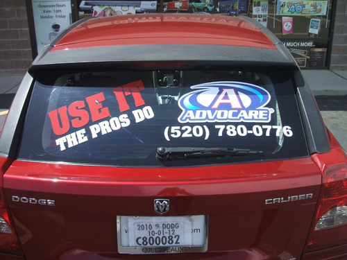 Advocare Window Graphic Install For Gloria Castillo Innovative