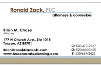 New business cards for Ron Zack