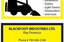 Blackfoot Industries Business Card