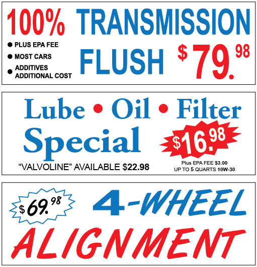 New Banners For Quality Lube Amp Tune Innovative Signs Of