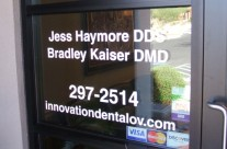 Innovation Dental Vinyl Install