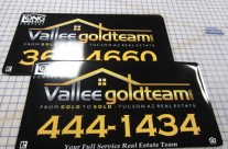 Vehicle Magnets for Vallee Gold Team