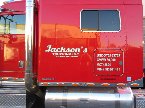 Jacksons trucking vinyl install completed