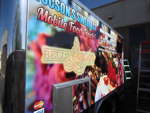 Bella S Gelato Concession Trailer Wrap Innovative Signs
