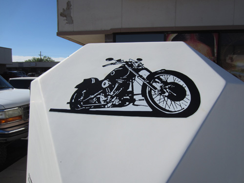 American Motorcycle Trailer Graphics Install Innovative