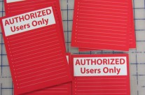 Authorized Users PVC Sign Board