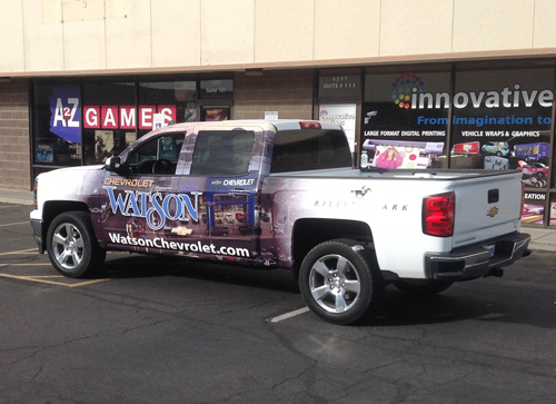 Watson Chevrolet Partial Wrap Innovative Signs Of Tucson Innovative Signs Of Tucson