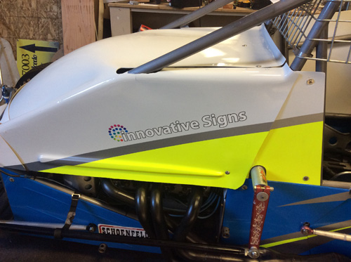 Sprint Car Vinyl Install Innovative Signs Of Tucson Innovative