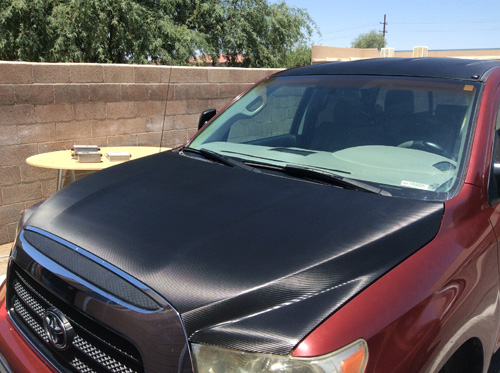 Carbon fiber roof wrap innovative signs of tucson innovative carbon fiber hood wrap thecheapjerseys Image collections