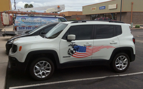 Marine decals install vehicle wraps tucson