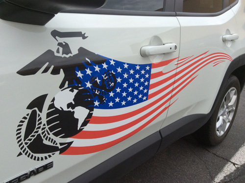 Custom Flag And Marine Decals Install Innovative Signs