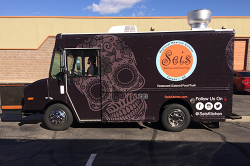 Seis kitchen food truck wrap innovative signs of tucson for Food truck design software