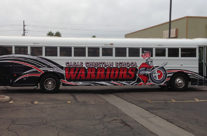 Casas Christian School Bus Wrap