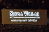 Lighted Apartment Sign