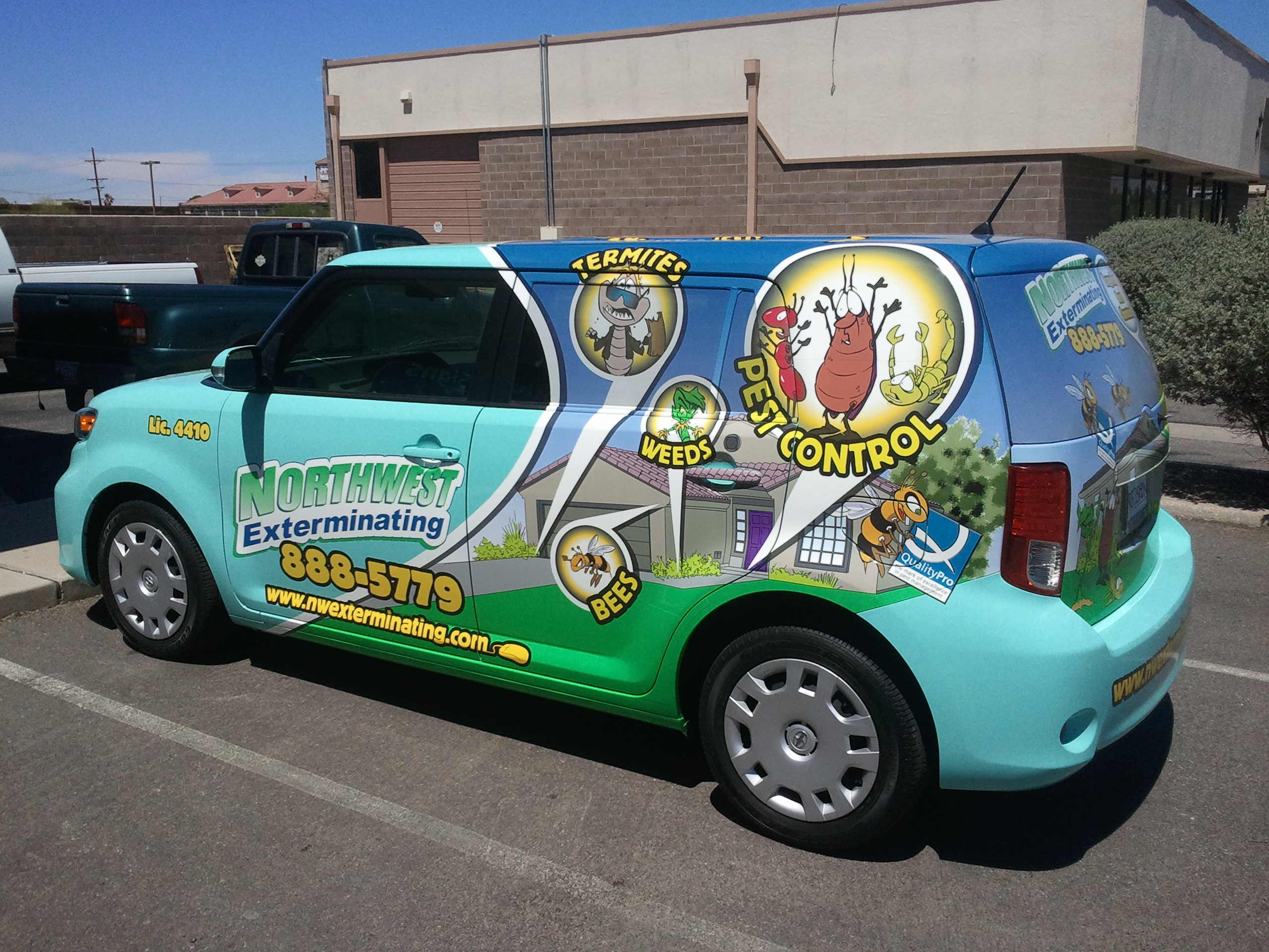 Thank You Northwest Exterminating For Allowing Us To Do These Wraps