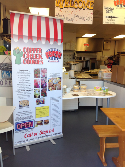 Banner Stand For Copper Creek Cookies Innovative Signs